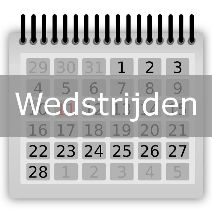 Wedstrijden weekend 17 en 18 december