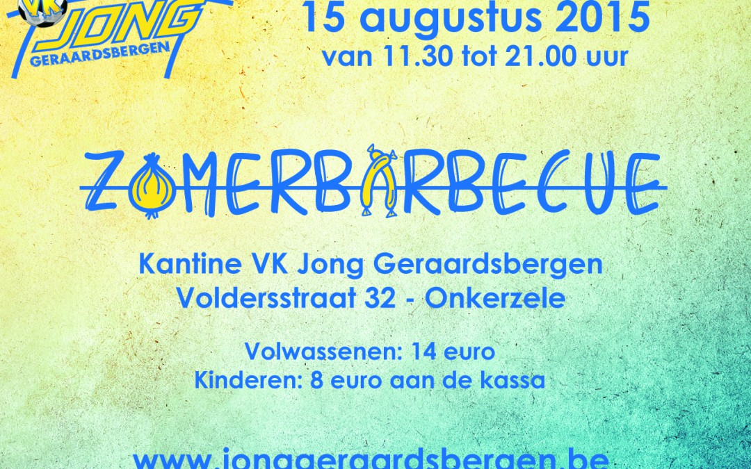 Zomerbarbecue op 15 augustus 2015
