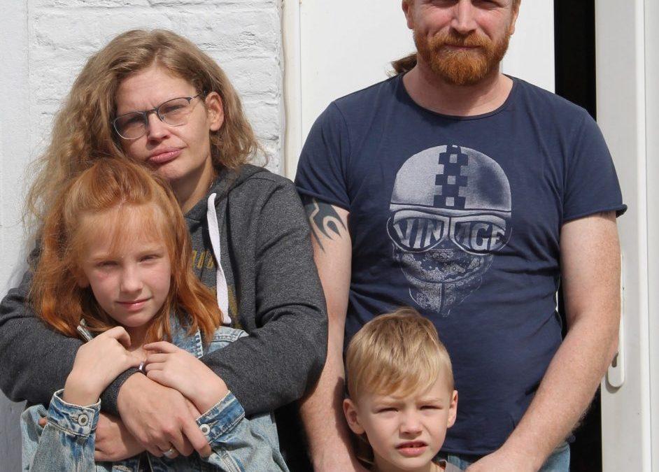 Solidariteitsactie familie Van Damme: snoepverkoop
